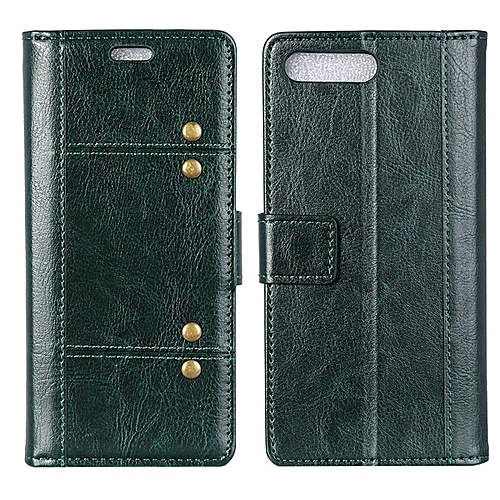 hot sale online a84c5 4ed08 Zenfone 4 ZE554KL Case,Brass Buckle PU Leather Magnetic Enhanced Flip Cover  with Card Slots and Folding Stand for Asus Zenfone 4 ZE554KL