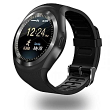 Y1 Sports Smart Phone Touchscreen Trendy Watch - Black