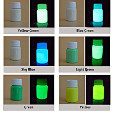 20g Glow in the Dark Fluorescent Powder Colorful Acrylic Luminous Paint Bright Pigment DIY Crafts Painting Tool