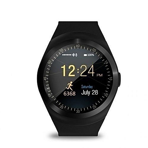 Y1 - Smart Watch with M-pesa menu,Bluetooth 3.0 280mAh - Black