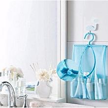 Bathroom Storage Clothespin Mesh Bag Hooks Hanging Bag Organizer Shower Bath New-Blue