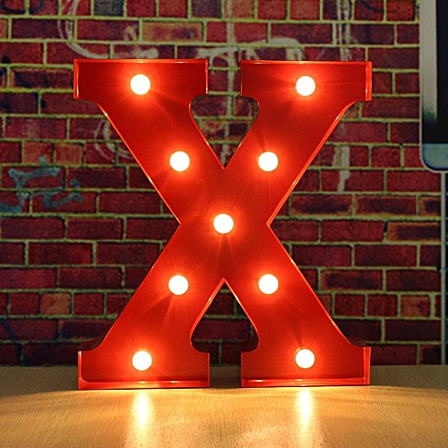 Universal 12inch Alphabet Led Letters Light Standing Hanging Up Wedding Party Decor Wooden
