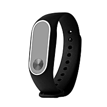 CO Replacement Wrist Strap With Two Color TPU Wristband for XIAOMI MI Band 2-black & white