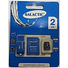 Memory Card + Adapter - 2GB - Black