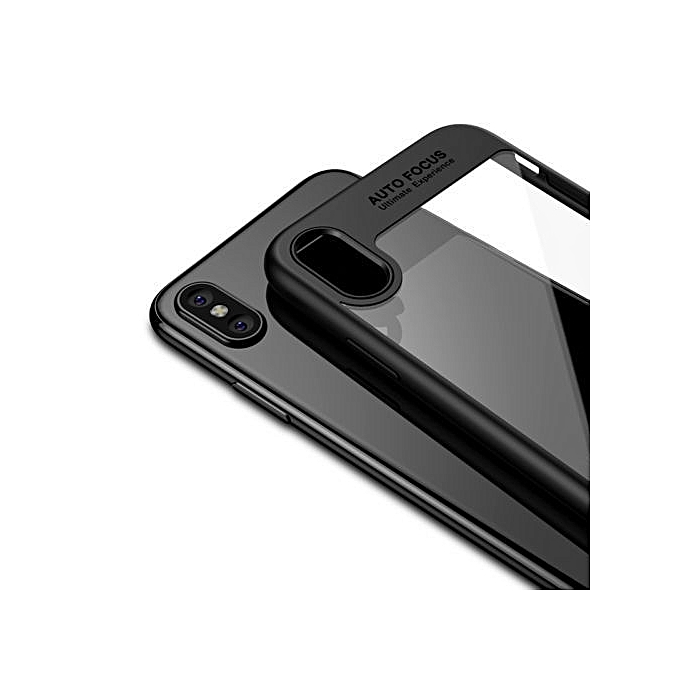 best loved d3f3b 7ae7d colorful TPU silicone + transparent PC iPhone X/iPhone 10 Case Black