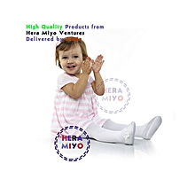 Soft Cotton Baby Knee High Socks / Stockings - white.
