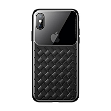 Baseus Weave Style Ultra-thin TPU Glass Case for iPhone XS Max(Black)