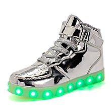 Silver LED Sneakers