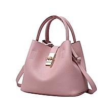 2Pcs Women's Fashion Leather Shoulder Bags Buns Mother Bag with Handbag