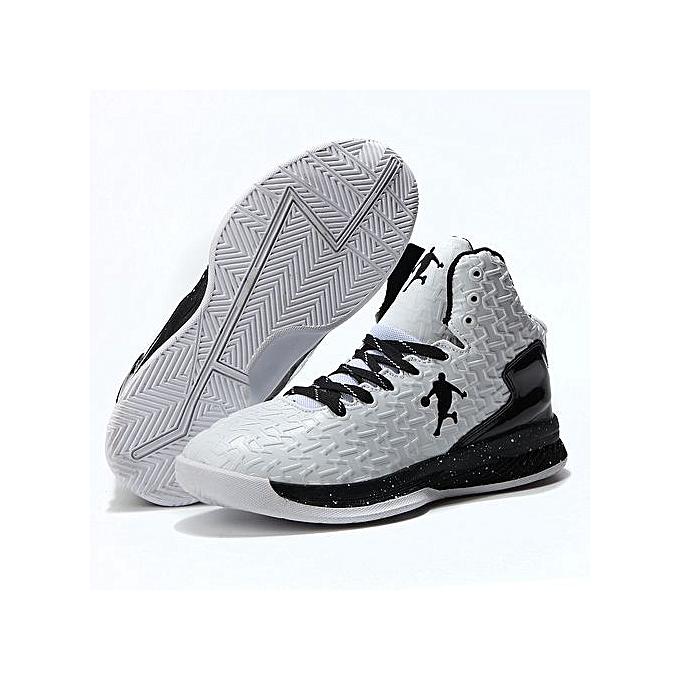 e2353fc73b8 Men Basketball Shoes Air Jordan Fashion Sneaker-black White