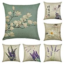 Honana 45x45cm Home Decoration Flowers and Plants Design Patterns Cotton Linen Pillow case