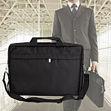 "New 14"" 15"" Black Bag Laptop Bag Notebook Tablet Carrying Shoulder Briefcase Black"