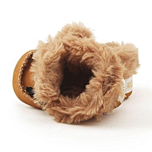 bluerdream-Baby Girl Boy Soft Infant Toddler Newborn Warming Shoes-Brown