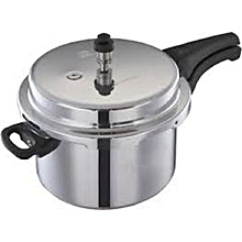 Heavy Duty Pressure Cooker 10L + FREE 6 Tablespoons - Silver