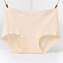 TB Female Middle-waisted Briefs Simple Solid Color Comfortable Cotton Panties light OC