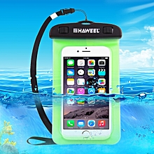 Transparent Universal Waterproof Bag With Lanyard For IPhone, Galaxy, Huawei, Xiaomi, LG, HTC And Other Smart Phones(Green)