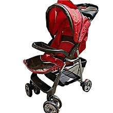 Baby Stroller/ Foldable Pram Portable Baby Stroller With Universal Casters- Red