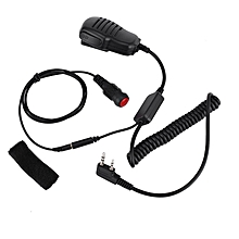 UJ 2 Pin Shoulder Remote Speaker Microphone PTT for Kenwood Wouxun Puxing Baofeng-black
