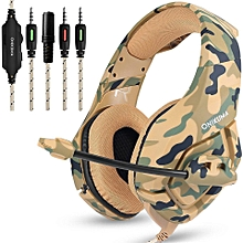 ONIKUMA K1 Camouflage PS4 Headset Bass Gaming Headphones Game Earphones Casque with Mic