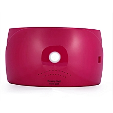 New Fashionable Useful UV 18 LEDs Lamp Dryer Light Machine For All Nail Gels Rose Red US Plug
