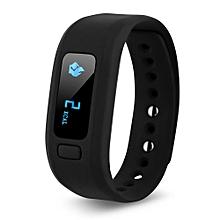 Bluetooth IP65 Sport Smart Watch Fitness Tracker - Black