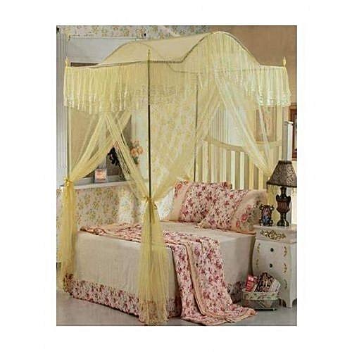 buy generic canopy mosquito net with metallic stand 4x6 cream