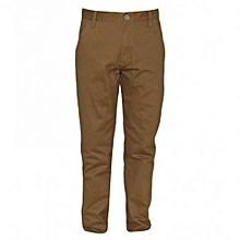 Brown  Mens Slim Fit Pants