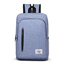 Backpack Laptop Bag Pack Travel Vintage Teenage College Double Shoulder School Pure-blue