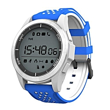 """NO.1 F3 - 1.1"""" Smartwatch Android/IOS 240mAh Waterproof Sedentary Reminder - WHITE + BLUE"""