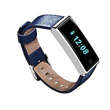 QS60 Waterproof Bluetooth Smart Wristwatch Support Training Pedometer(Blue)