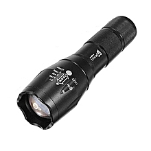 Cree XML T6 Waterproof LED Flashlight Zooming Torch - Black