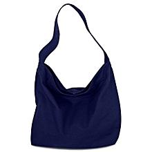 Guapabien Girl Practical Solid Color Large Capacity Canvas Magnetic Button Travel Shopping School Shoulder Bag