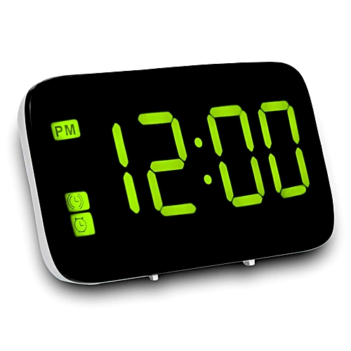 Alarm Clock, Digital Alarm Clock With Voice Control And Big Snooze, Led  Clock For Kids/Heavy Sleepers/Bedroom / Home/Travel / Office(Yellow)