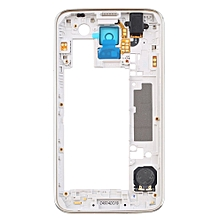 CO For Samsung Galaxy S5 I9600 G900H Back Housing Middle Frame Bezel Camera Lens-Silver