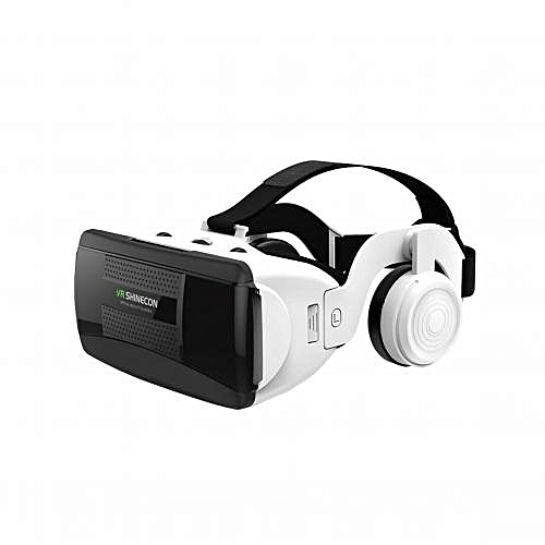 cbf62fe79613 VR SHINECON Shinecon VR Virtual Reality 3D Glasses Box with Stereo Headset  with headphone all Smartphones-white