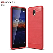 For Nokia 3.1 2018 Luxury Protection Cover Slim Armor Carbon Fiber Soft TPU Back Case For Nokia 3.1 2018 Phone Cover 5.2inch 335219 c-0 (Color:Main Picture)