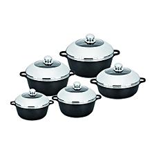 Non-Stick Cooking Pots Cookware set - 10pcs