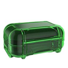 ABS Shockproof Waterproof Resin Earphone Storage Box - Green