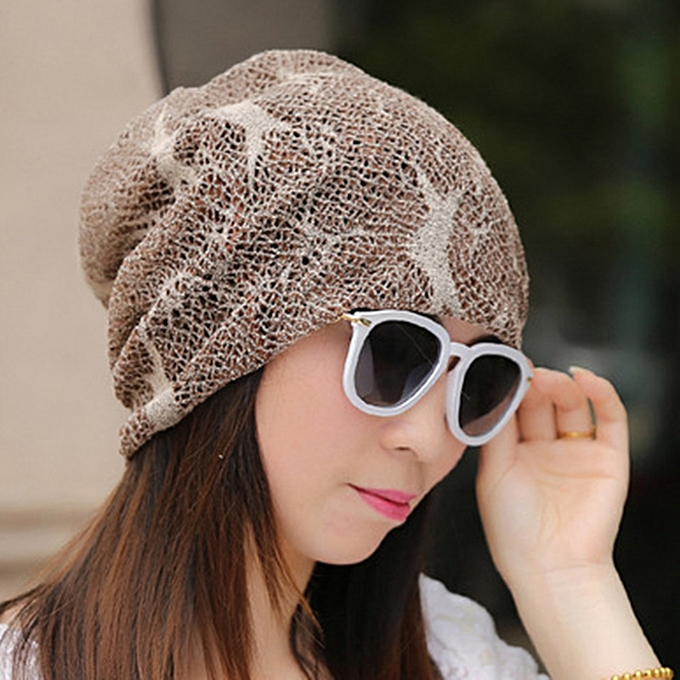 bbdc326c Women Outdoor Thin Lace Headscarf Caps Breathable Chemotherapy Hat