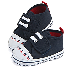 Kids Boy Girl Sports Shoes Sneakers Baby Infant Soft Bottom First Walkers BK/11-Black
