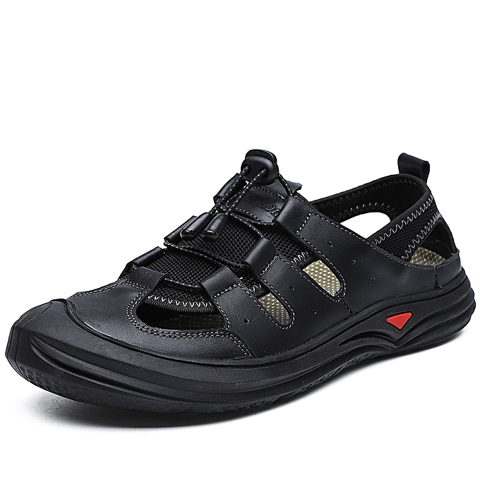 142b280c9 SocNoDn Men Fashion Summer Casual Hiking Beach Sandals Shoes Black ...