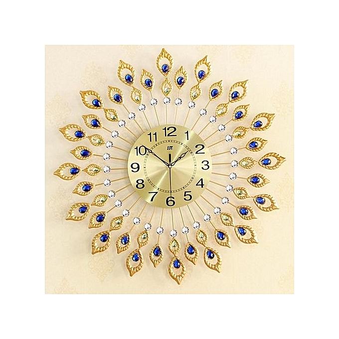 Buy UNIVERSAL Pea Diamond Iron Quartz Art Wall DIY Clock Living Bed ...