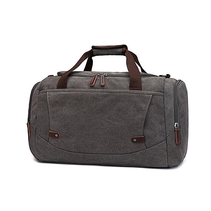 74b37853323f casual canvas hand luggage bag unisex large capacity storage travel duffle  bag weekender bag