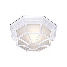 Searchlight Hexagonal Flush Outdoor Porch Light