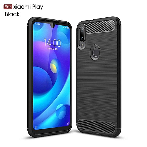 premium selection be189 792db For Xiaomi Mi Play Carbon Fiber Case Rubber Bumper Thick Silicone Case For  Xiaomi Play Cover 6.26
