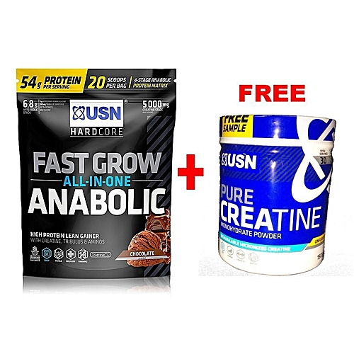 Fast Grow Anabolic - 1KG - Chocolate With Free Creatine 150g