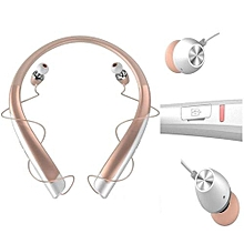 Headsets, HBS-1100 Bluetooth Wireless Headset CSR4.1 High Quality Neckband Sports Earphones(Gold)