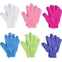 1 Pair Of Exfoliating Gloves for Body Scrub