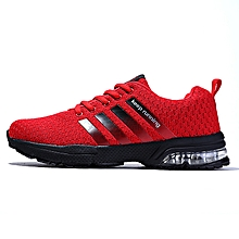 Summer Men's Sneakers 2018 Men Running Shoes Trending Style Sports Shoes Breathable Trainers Sneakers - Red