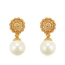 Gold Coated Pearl Earrings